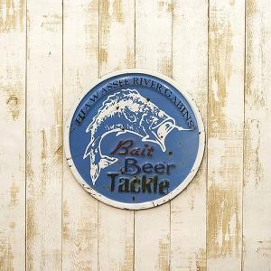 西海岸 ラウンド Beer Blue ハワイアン リゾート店舗装飾 看板  壁掛け  サインボード レストラン アメリカン カフェ サイン|vacationclub