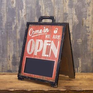サイン 看板 開店 閉店 両面 A型黒板 オープン クローズ お店 サインボード カフェ 店舗用 木製|vacationclub