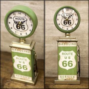 ルート66 ガスポンプ テーブルクロック 置時計 時計 オールディーズ インテリア vacationclub