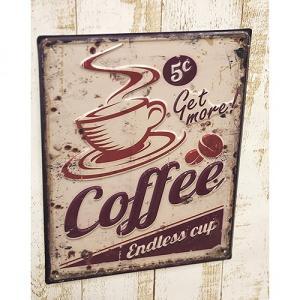 壁掛け コーヒー カフェ 喫茶店 オールディーズ アンティーク ボード プレート アイアン サインボード レストラン アメリカン|vacationclub