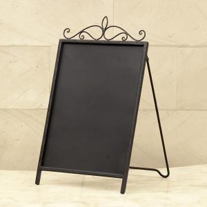 黒板 おしゃれ ウェルカムボード ボード サイン A型 片面 店舗 看板 ブラックボード メッセージボード チョーク 置物 インテリア アンティーク|vacationclub