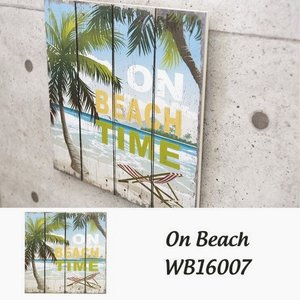 ビーチ ピクチャーボード ハワイアン ヤシの木 看板 壁掛け 西海岸 木製 サインボード|vacationclub