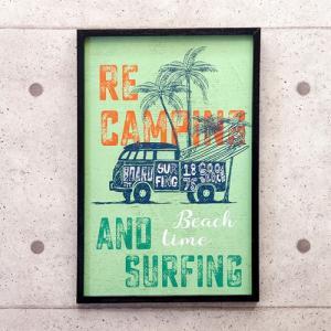 サーフインテリア 西海岸 東海岸 ワーゲン アートフレーム サーフ雑貨 壁掛け アンティーク インテリア vacationclub