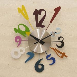 壁掛け デザイン 時計 POP ウォールクロック モダン マルチカラー ビーチウォールサイン ホール用品 レストラン 玄関 vacationclub