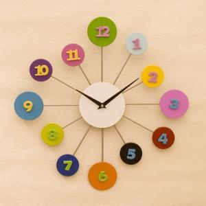 壁掛け デザイン 時計 POP ウォールクロック モダン パステル ホール用品 レストラン 玄関 カフェ vacationclub