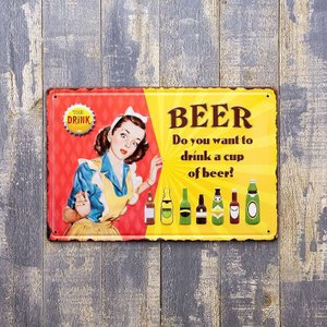Beer アートポスター 壁掛けサイン ビール 看板 アメリカン USA アンティーク インテリア|vacationclub