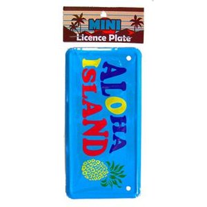 【フラハワイ】ハワイアン HHミニライセンスプレート ALOHA ISLAND インテリア ハワイ 雑貨 ナンバープレート アメリカ ドアプレート|vacationclub