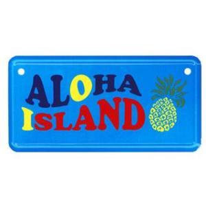 【フラハワイ】ハワイアン HHミニライセンスプレート ALOHA ISLAND インテリア ハワイ 雑貨 ナンバープレート アメリカ ドアプレート|vacationclub|02