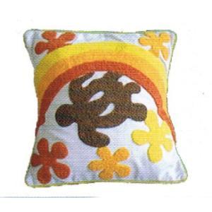 ホヌ ハワイアン クッションカバー  刺繍 プルメリア 40×40 家具 |vacationclub