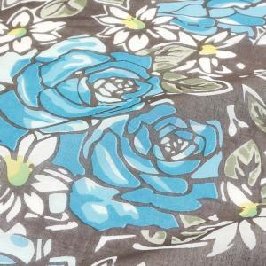 パレオ 大判 水着 の上に タヒチアンダンス ビッグローズ 花柄 インド綿 水着 の上に 大柄 タヒチアン|vacationclub|03