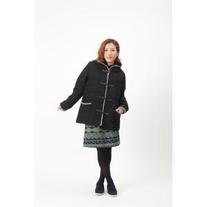 秋冬 手織りボーダー ジャガード ウール 綿 フード付きコート コートPIPPAL秋 冬 vacationclub