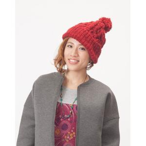 帽子 プレーン 手編み アランニット ボリューム ニット帽 にっと 秋冬 厚手 ロング アクリル 山ガール ファッション アランニット帽 vacationclub