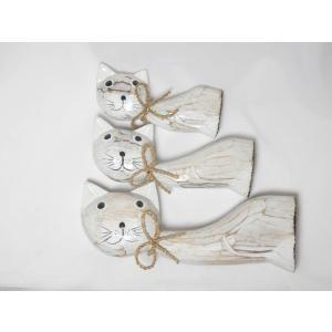 ねこ 木彫り 猫 置物 はてな かわいい 玄関 木像 インテリア アンティーク 店舗 vacationclub 07