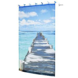 西海岸 ハワイアン カーテン マリン トロピカル  暖簾  リゾート|vacationclub