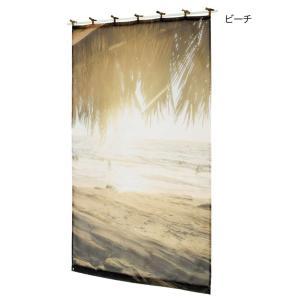 西海岸 ビーチ ハワイアン カーテン マリン トロピカル  暖簾  リゾート|vacationclub
