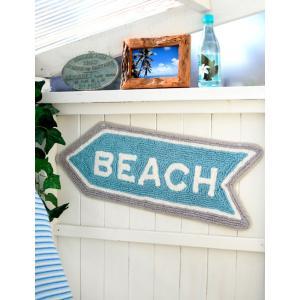 ビーチ 西海岸 アロー マット コットン100% 綿 床マット インテリア フロアマット|vacationclub