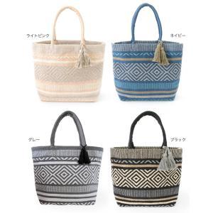 手織り ネイティブ  トートバッグ ルーシッド L タッセル 素材 バック|vacationclub