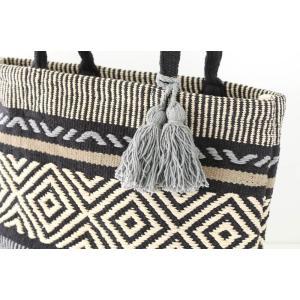 手織り ネイティブ  トートバッグ ルーシッド L タッセル 素材 バック|vacationclub|04
