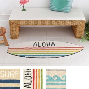 ハワイアン サーフボード マット 西海岸 玄関 サーフインテリア 床マット インテリア|vacationclub
