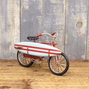 ブリキ サーフボード サーフィン 自転車 ハワイアン サーフ 置物 インテリア ヴィンテージカー|vacationclub
