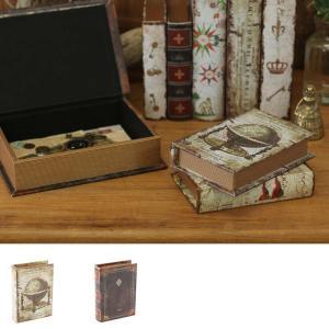 小物入れ 本型 ブックボックス ケース 箱 本箱 Sサイズ 置物 ヴィンテージ アンティーク 大人|vacationclub