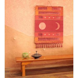 タペストリー【月と太陽】アジアン雑貨 サロン SM-32VR装飾 スパ アジア アロマサロン SPA 飾り 壁掛け|vacationclub