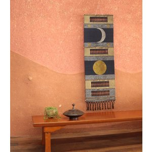 タペストリー【月と太陽】アジアン雑貨 サロン SM21V 装飾 スパ アジア アロマサロン SPA 飾り 壁掛け|vacationclub