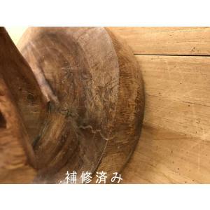 ふくろう 置物 木彫り フクロウ LLサイズ木像 インテリア アンティーク 店舗 vacationclub 13