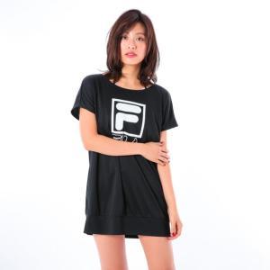 【SALE】【FILA(フィラ)】レディース水着ビブトップ水着 Tシャツ 3点セット