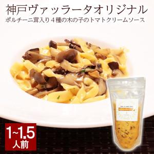 ポルチーニ茸入り4種の木の子の トマトクリームソース パスタソース pasta ポルチーニ キノコ ...