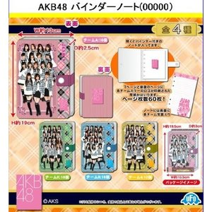【AKBグッズ】 大放出 (数量限定) AKB48 バインダーノート (全4種) チームA チームK チームB チーム4
