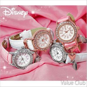 新商品 Disney/ディズニー◆ミッキーハートチャーム腕時計/スワロフスキー30石 (全4色) NFC110044 value-club