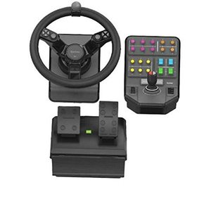 Saitek Farming Simulator Wheel Pedals & Vehicle Side Panel Bundle SCB432160002/01/1 農業シミュレータ|value-select