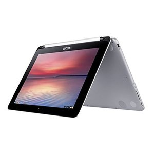 ASUS Chromebook Flip 10.1-Inch Convertible 2 in 1 Touchscreen (1.8GHz, 4GB Memory, 16GB eMMC, Silv|value-select