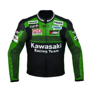 Kawasaki カワサキ レーシングレザージャケット(本革)   サイズM,L|value-select