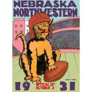 【商品名】NCAA - 1931 Northwestern vs. Nebraska 36 x 48...