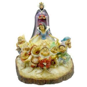 エネスコ Enesco Jim Shore ジム・ショア 木彫り調フィギュア 白雪姫と七人のこびと 「」