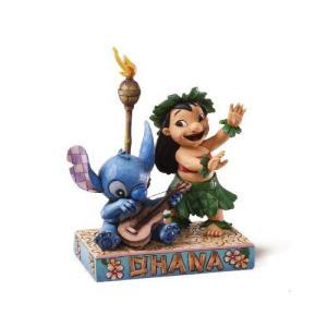 ディズニー トラディション  Enesco Disney Traditions Lilo and Stitch 置物 フィギュア リロ&スティッ value-select