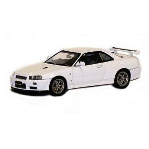 1999 Nissan 日産 Skyline GTR R34 V Spec II Diecast Car Model 1/43 White Die Cast Car by Autoart オ|value-select