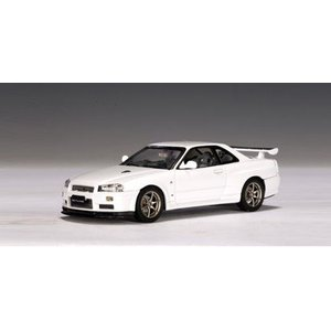Nissan 日産 Skyline R34 GTR V-Spec II White Pearl (Part: 57333) Autoart オートアート 1:43 Diecast|value-select