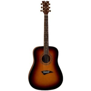 Dean ディーン Tradition S2 Solid Top Dreadnaught Acoustic Guitar, Vintage Sunburst アコースティッ|value-select