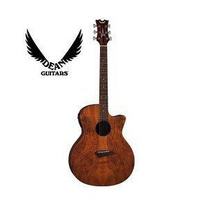 Dean ディーン Guitars AX SPALT Mahogany Body Acoustic-...