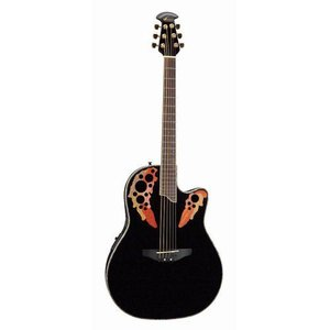 Ovation オベーション Celebrity Deluxe CC44 Acoustic-electric Guitar, Black アコースティックギター|value-select