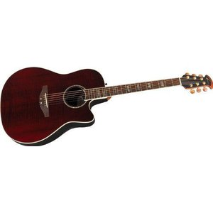 Ovation オベーション Celebrity Mid Depth Flame Maple Wine Red Flame アコースティックギター アコギ|value-select