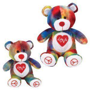 Grriggles Rainbow Love Pride Bear Dog Toy, Small ぬ...