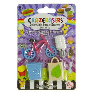 The Green Life (4 Mini-Erasers) - CrazErasers: Collectible Erasers Series #2 フィギュア ダイキャス