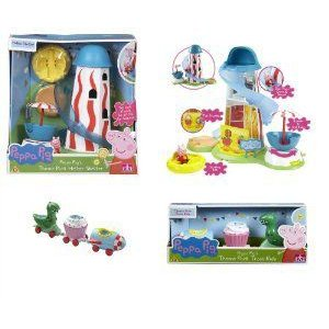 Peppa Pig's Theme Park BUNDLE - Helter Skelter & T...