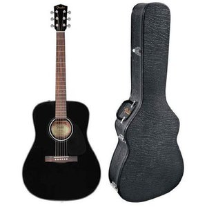 Fender フェンダー CD-60 Dreadnought Acoustic Guitar - Black アコースティックギター アコギ ギター|value-select