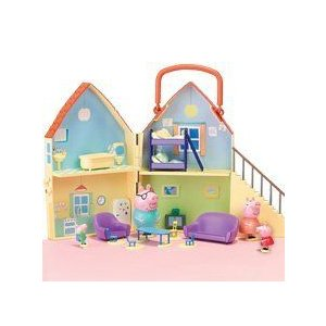 Peppa Pig Playhouse with Mat and 4 フィギュアs