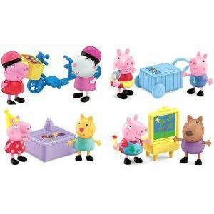 "Peppa Pig Deluxe 2.5"" フィギュアs Bundle of 8: Candy Ca..."